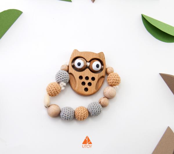 Owl baby teether