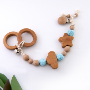 Double ring pacifier chain