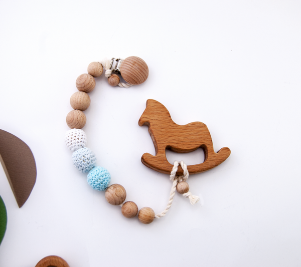 horse pacifier chain