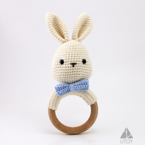 rabbit crochet rattle