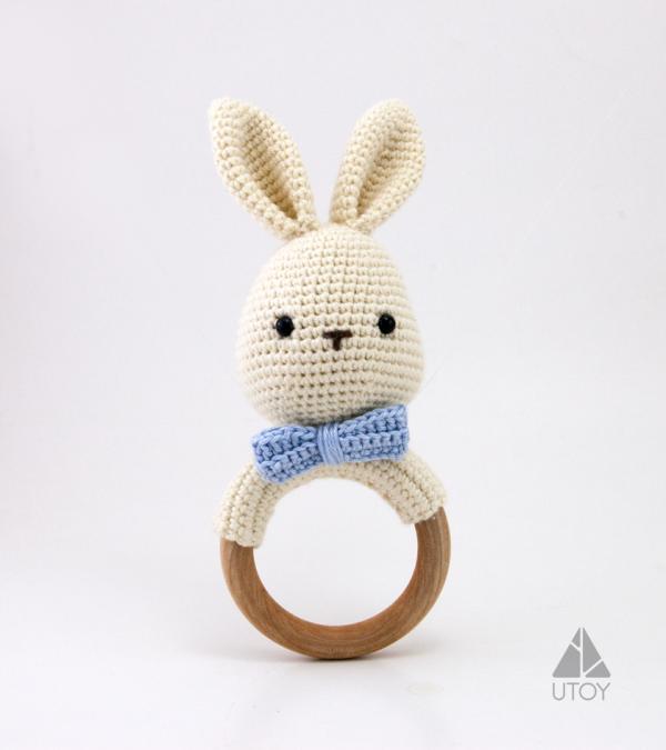 rabbit crochet rattle