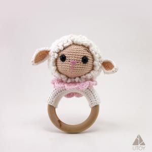 Sheep Rattle Crochet, kuzu çıngırak. bebek aksesuarları, oyuncak