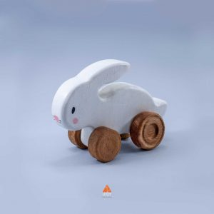 wheeled wooden toy