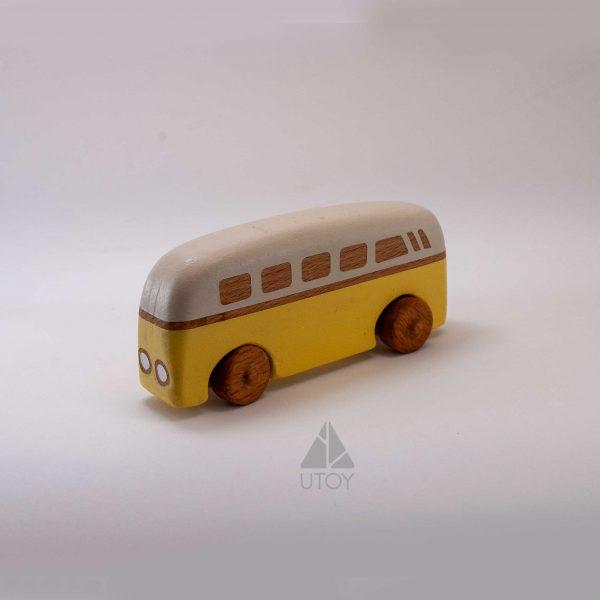 sarı ahşap araba